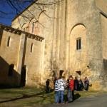 Vue extérieure de l'abbaye fortifiée de Saint-Avit-Sénieur
